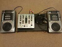 DJ Equipment. CD Decks, Mixer, Amplifier, Headphones. Cheap