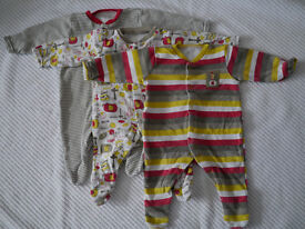 Baby clothes, 0-1 month, sleepsuit and vest bundle, 19 items in total