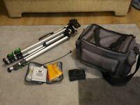 Bundle of Camera Accessories - Tripod + Bag + Lens Cleaning Kit for Digital or Film SLR Camera