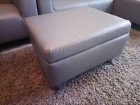 1 Grey Footstool