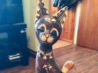 Decorative Wooden Cat