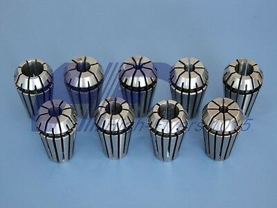New Precision Er16 Er-16 9 Pcs Spring Collet Set 18 - 38 With 316 14 516