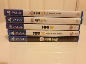 FIFA 14 + FIFA 15 + FIFA 16 + FIFA 17 + FIFA 18 (PS4)