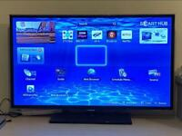"Samsung 40"" smart tv with built in freeview & stand & remote - sony toshiba 37"" 42"" 50"" 55"" 60"""