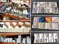 High Quality, Clearance Items for Car Boot. Heavily reduced price. Coasters, Cushions, Clocks, Mugs