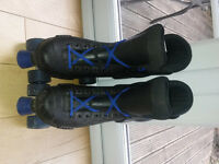 Roller Boots - size 9. Boys/Mens - Black/Blue. Very good condition.