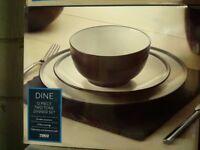 BNIB Tesco Eclipse two tone 12pc Dinner Set- Black