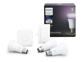 Philips Hue B22 White and Colour Starter Kit - Richer Colors - Brand New and Unopened