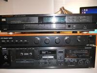 Retro Marantz CD65 CD Player, A&R Cambridge A60 Amplifer & Yamaha KX-300 Tape decks