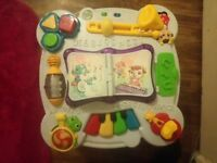 Pink leap frog activity table