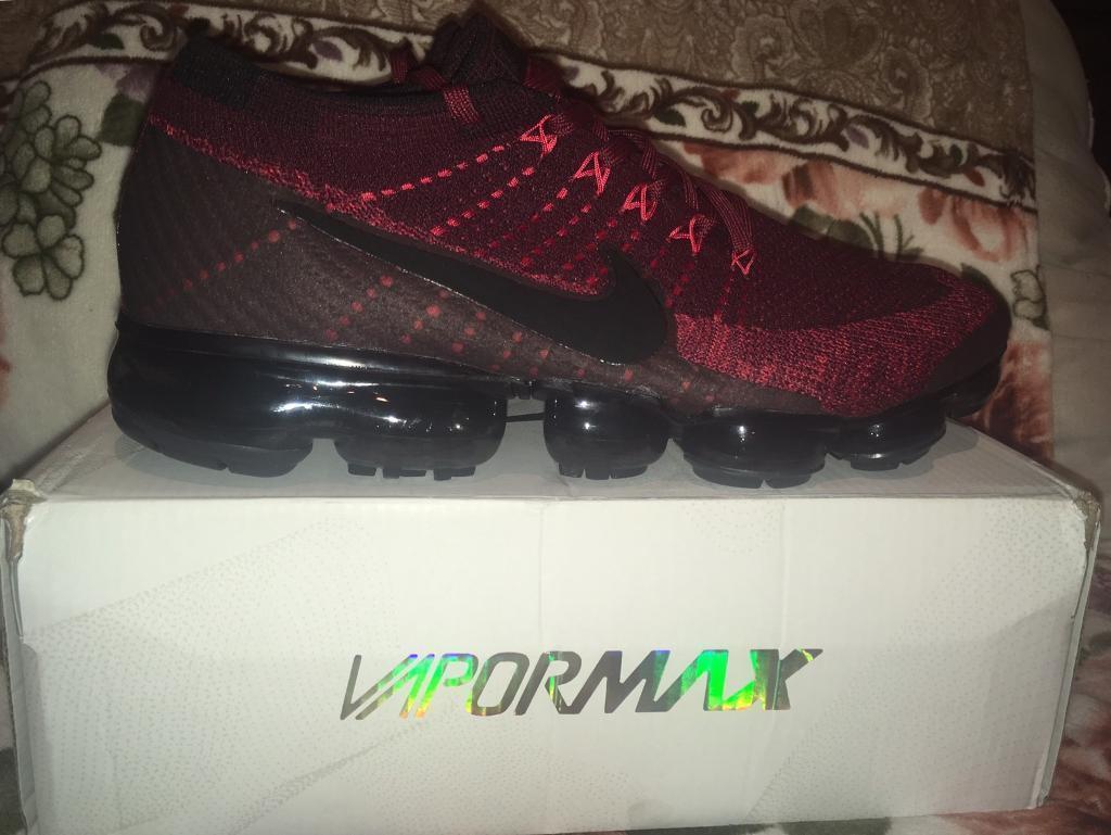hot sale online b84df d3fa9 Nike Air Vapormax Red and Black Mens UK 10 Trainers BNIB