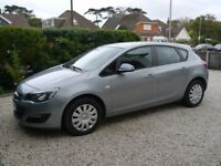 2012 Vauxhall Astra 1.4 Exclusiv 5 door silver manual petrol hatchback