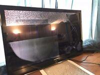 "Samsung 46"" TV - screen broken, no stand"
