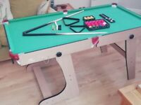 Used, 5ft Folding Snooker/Pool Table including all accessories for sale  Fulwood, Lancashire