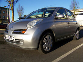 2003 NISSAN MICRA SE 1.4 Petrol Automatic 5 Door Silver NO FAULTS !!!