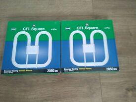 Cfl x 2 energy saving 4 pin bulb 28 w