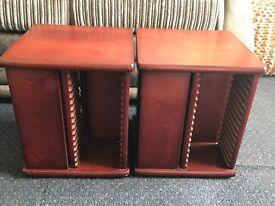 CD Storage x2 Wooden Swivel