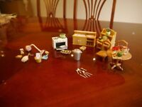 Sylvanian kitchen and house keeping set