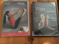 2 Yoga DVDs - pregnancy and post-natal