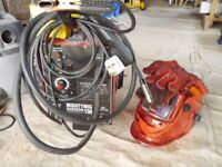 Sealey Mightymig 150 welder, gas/no gas, comes with mask, pliers, magnets, gas valves, gloves.
