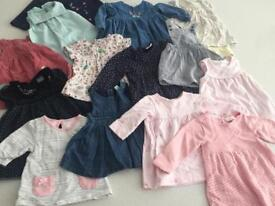 Bundle of 14 dresses 0-3 month