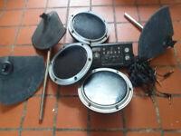 Electric drum pad joblot (plus Arbiter sound module & jackleads)