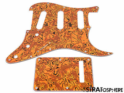 *NEW Gold Abalone Stratocaster PICKGUARD & TREMOLO COVER for Standard Strat 3Ply