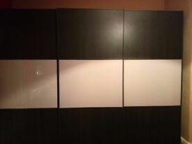 bedroom wardrobes 2.9 meter boconcept and side board