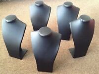Jewellery Display Busts / Stands Black Leatherette / Velvet 13 Items