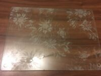 4 Sainsbury's glass placemats