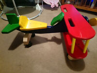ride on wooden plane in good condition just a few paint scrapes