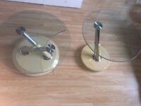 Glass/Wooden table set