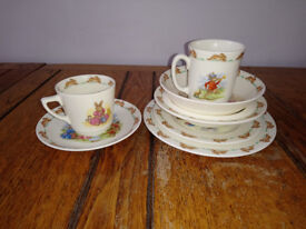 Vintage Royal Doulton Beatrix Potter childrens tea set