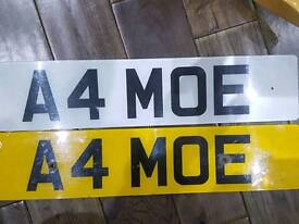 A4MOE.. CHERISHED NUMBER PLATE