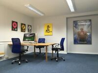 Desk Spaces in spacious Mews office 25m from central Brighton seafront