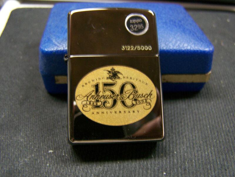 2002 ZIPPO ANHEUSER BUSCH 150 ANNIVERSARY 3122/5000 NEW