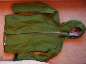 16/17 season, Norrona ski jacket Mens Medium Outer-shell Dark Green Fully Waterproof Gore Tex Pro