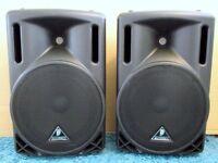 Pair of Behringer 500w PA Speakers