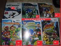 bundle of wii games prices in pictures or £25 the lot collect from didcot