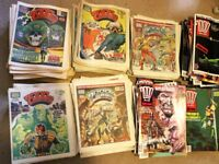 Over 300 vintage 2000 AD Judge Dredd comics; 1981 - 1993; good condition - priced to sell quick