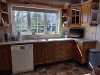 Solid Chestnut Kitchen units for sale