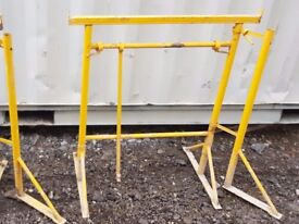 Trestles - Builders trestles / band stands scaffolding scaffold boards plastering