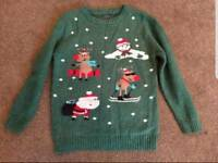 Boys Next Christmas jumper. 8 years.