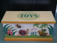 A set of hand crafted, hand painted children's bedroom furniture by Heather Spencer - Bugs Themed