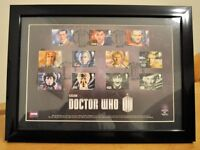 DR WHO 50TH ANIVERSARY FRAMED STAMP SET plus EXTRAS