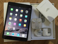 ABSOLUTE MINT CONDITION IMMACULATE iPAD MINI 2 16GB WIFI IN BOX WITH FREE EXTRAS