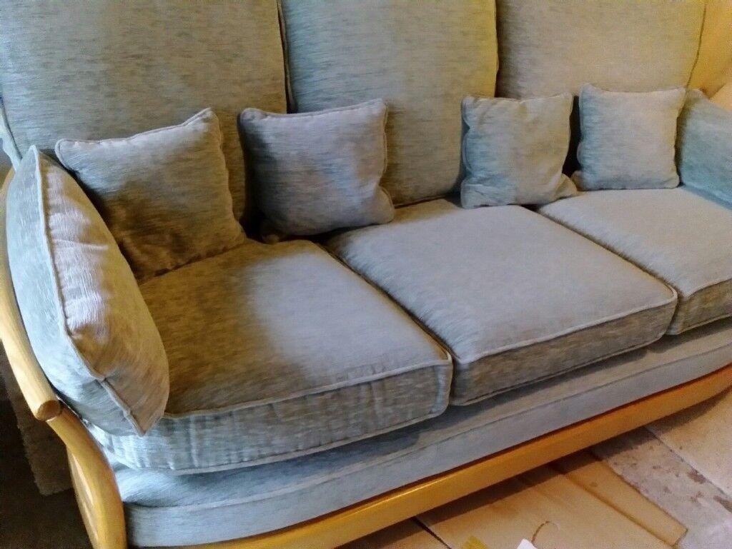 Ercol Sofa Renaissance 3 Seater Frame Light Wood