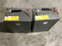 Forklift batteries x 2 12v /69 Ah