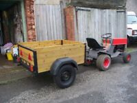 Garden Tractor and Trailer