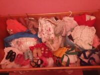 Lots of baby girls/toddler clothes and shoes